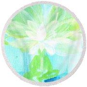 Lotus Petals Awakening Spirit Round Beach Towel