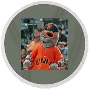 Lou Seal San Francisco Giants Mascot Round Beach Towel