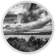 Lough Foyle View Round Beach Towel