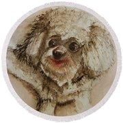 Louie Round Beach Towel