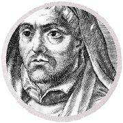 Louis De Blois (1506-1566) Round Beach Towel