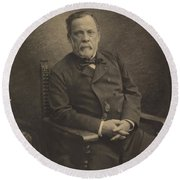 Louis Pasteur Round Beach Towel