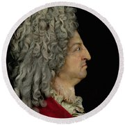 Louis Xiv 1638-1715 1706 Mixed Media Round Beach Towel