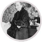 Louise Michel (1830-1905) Round Beach Towel