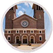 Louisiana Church Round Beach Towel