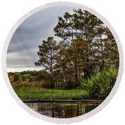 Louisiana Landscape Round Beach Towel