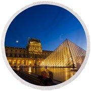 Louvre Round Beach Towel