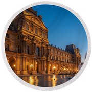 Louvre Sunset Round Beach Towel