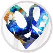 Love 4 - Heart Hearts Romantic Art Round Beach Towel