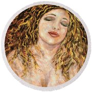 Love And Desire Round Beach Towel