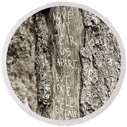 Love And Fate Round Beach Towel