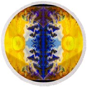 Love And Loss Abstract Healing Artwork Round Beach Towel