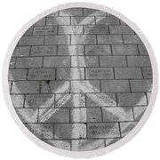 Love And Peace Round Beach Towel
