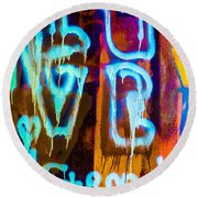 Love And Something Else Round Beach Towel