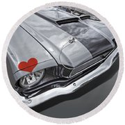 Love At First Sight - '66 Mustang Round Beach Towel