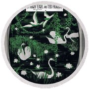 Love Bird Round Beach Towel