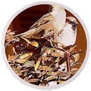 Love Birds II Round Beach Towel