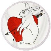 Love Bunny Round Beach Towel
