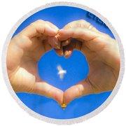 Love Eternally.... Round Beach Towel