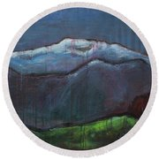Love For Pikes Peak Round Beach Towel