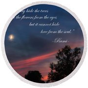 Love From The Soul Round Beach Towel