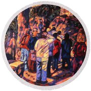 Love Gardens In Coimbra University Round Beach Towel