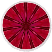 Love In An Orchid Kaleidoscope Round Beach Towel