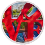 Love In City Park New Orleans Round Beach Towel