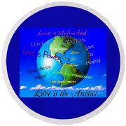 Love Is. . . . Round Beach Towel