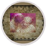 Love Is Forever Round Beach Towel