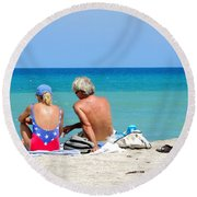 Love Is In The Air Round Beach Towel