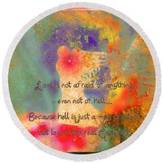 Love Is The Religion Round Beach Towel