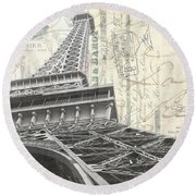 Love Letter From Paris Square Round Beach Towel