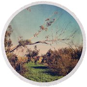 Love Lives On Round Beach Towel by Laurie Search