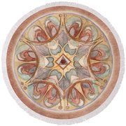 Love Mandala Round Beach Towel