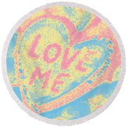 Love Me Round Beach Towel