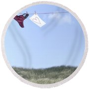 Love Message From Cloud 9 Round Beach Towel by Joana Kruse