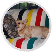 Love My Pillow Dad Round Beach Towel