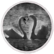 Love... Round Beach Towel by Nina Stavlund