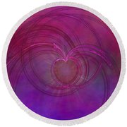 Love Of The Universe Round Beach Towel