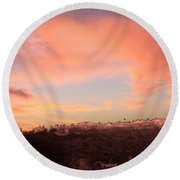 Love Sunset Round Beach Towel