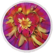 Loveflower Orangered Round Beach Towel