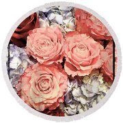Lovely Flowers Round Beach Towel