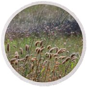 Lovely Layers Of Grass Round Beach Towel