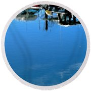 Lovely Sky Round Beach Towel