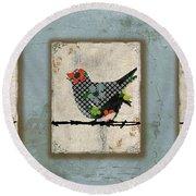 Lovely Song Bird Trio -1 Round Beach Towel