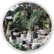 Lovely View Inside The Opryland Hotel In Nashville Tennessee 2009 Round Beach Towel