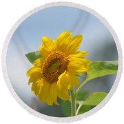 Lovely Yellow Sunflower Round Beach Towel