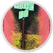 Lovers Lane Round Beach Towel