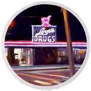 Love's Drugs Round Beach Towel
